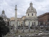 Trajans Column And Santa Maria Di Loreto