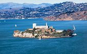 Alcatraz Island Sail Boats San Francisco California