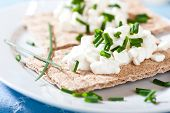 Crispbread with Quark and Chive