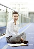 Businesswoman Sitting On The Floor