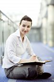Businesswoman With Calendar