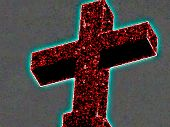 Neon cross enhanced image