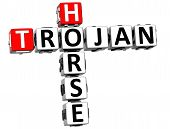 3D Trojan Horse Virus Crossword Text