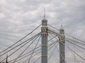 Albert Bridge Over River Thames In London poster