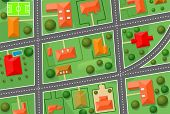 picture of building relief  - Map of cottage village for sold real estate design - JPG
