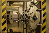 Metal Heavy Bank Security Big Door Closeup poster