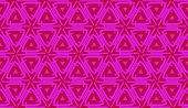 Vector Seamless Layout With Curved Line, Illusion Triangles. Abstract Hipster Pattern. For Your Wall poster