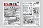 Newspaper Layout. News Column Articles Newsprint Magazine Design. Brochure Newspaper Sheets. Editori poster