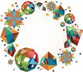 Постер, плакат: Оригами формы круглые кадр