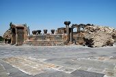 The ruins of Zvarnots cathedral, Armenia