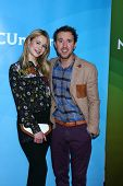 LOS ANGELES - JAN 7:  Kristen Hager, Sam Huntington attends the NBCUniversal 2013 TCA Winter Press T