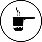pan in fire symbol