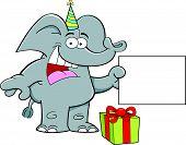 Cartoon party elephant