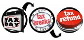 A diagram of three circles showing you the steps needed to find tax breaks and save money when figur
