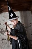 Insulted Young Wizard With Scepter