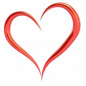 picture of valentines day  - Red valentine day hearts with white isolation - JPG