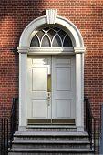 Georgian Colonial Style Old Historic Building Door