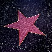 LOS ANGELES - OCTOBER 16: A blank star in Hollywood Walk of Fame on October 16, 2011 in Los Angeles,