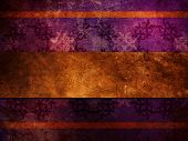 Gold Ribbon On Purple Background
