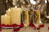 Gold Glitter Wedding Reception Setting