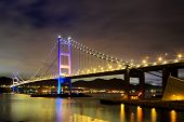 stock photo of tsing ma bridge  - Tsing Ma bridge - JPG