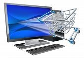 Computer-shopping-Konzept