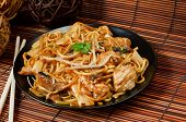stock photo of chinese restaurant  - Chicken chow mein a popular chinese food available at take aways - JPG