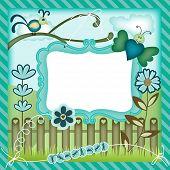 Garden digital scrapbook layout