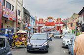 Jonker Walk With Chinese New Year Decoration In Melaka
