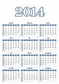 American Calendar For 2014 In Vector