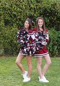 Two Cute Cheerleaders