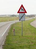 Traffic Sign For Deer Pass