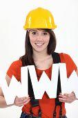 Tradeswoman embracing technology