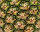 Texture Of Pineapple Photographed Closeup, Tropical Texture