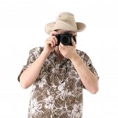 Tourist With Camera poster