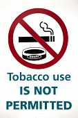 Tobacco Use Is Not Permitted