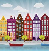 City illustration (Amsterdam)