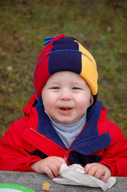 picture of doritos  - One year old boy with a messy face - JPG