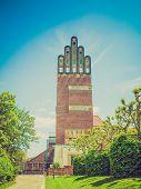 Retro Look Wedding Tower In Darmstadt