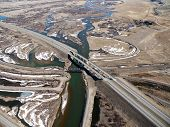 Missouri Headwaters And Freeway Aerial