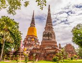 Ayutthaya,thailand-june 27, 2013: Watyaichaimongkol