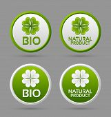 Bio And Natural Product Badge Icons
