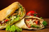 Turkish Doner Kebab And Shawarma
