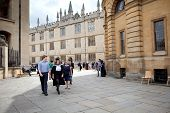 OXFORD, ENGLAND - JULY 26. The graduation of the students in Oxford, England on July 26, 2013