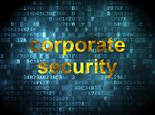 Safety concept: Corporate Security on digital background