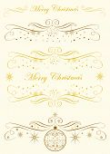 Calligraphy Monogram.Merry Christmas