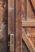 Old Rustic Pine Wood Barn Door