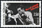 FRANCE - CIRCA 1991: A stamp printed in France shows Marcel Cerdan circa 1991