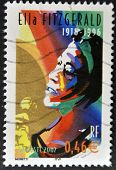 A Stamp Printed In France Shows Ella Fitzgerald