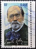 FRANCE - CIRCA 2002: A stamp printed in France shows Emile Zola circa 2002